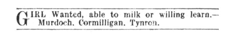 Cormilligan, March 1914