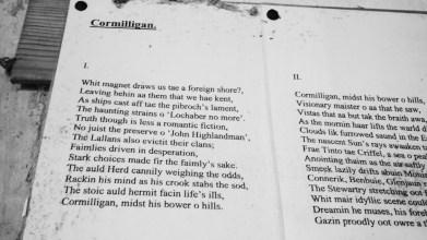 Rab Wilson's poem hanging in Cormilligan [10 May 2021] (3)