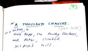 Aberdeen Arms, Tarland - A thousand chances - poem 3b