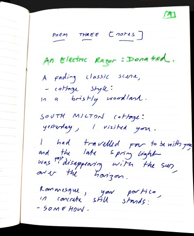 Aberdeen Arms, Tarland - An electric razor [donated] poem 1