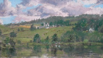 The river Tay from the garden of 5 walnut Grove (3)