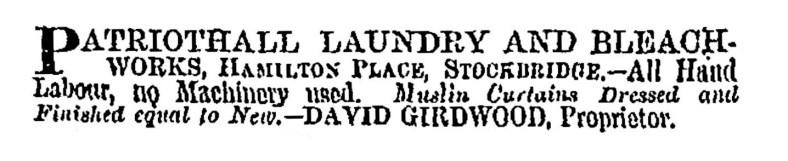1868 Patriothall Laundry, Edinburgh