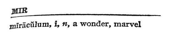 LATIN - a wonder, marvel