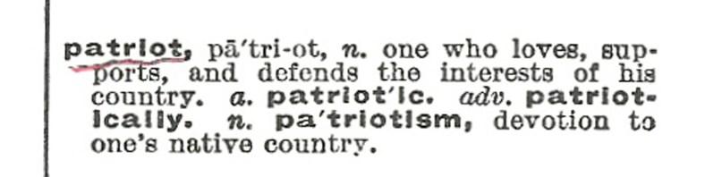 patriot - definition