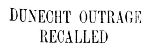 01 Dunecht Outrage Recalled - 6 Jan 1914