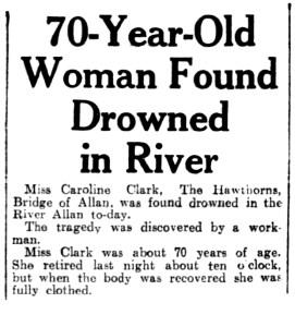 17 March 1938, Caroline Clark, Bridge of Allan