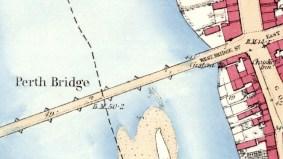 Custom House, 1 West Bridge Street, Perth and Smeaton's Bridge - 1st OS map