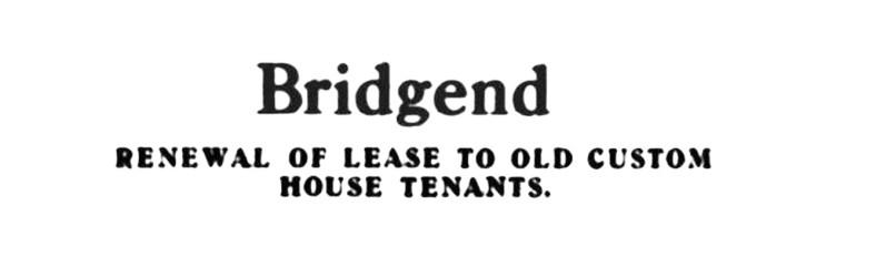 Feb 1920 Old Custom House, Bridgend