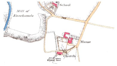Knockando Manse OS map 1871