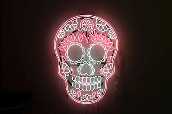 Beautiful Neon Art David Anthony Holes In Plaster