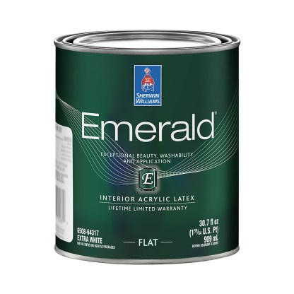 Emerald Interior Acrylic Latex Paint Flat 1 Quart
