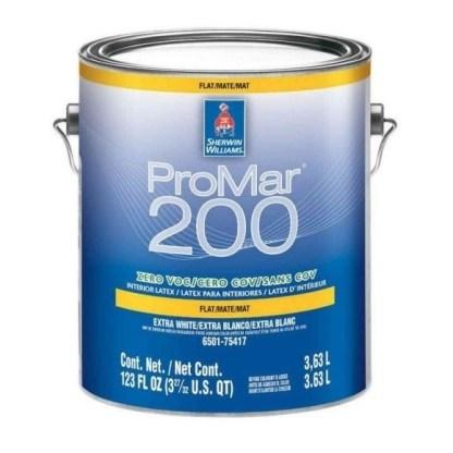 Sherwin-Williams ProMar 200 Zero VOC Interior Latex