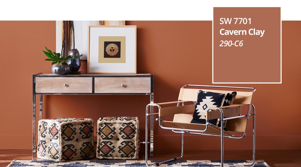 sherwin-williams sw 7701 cavernclay