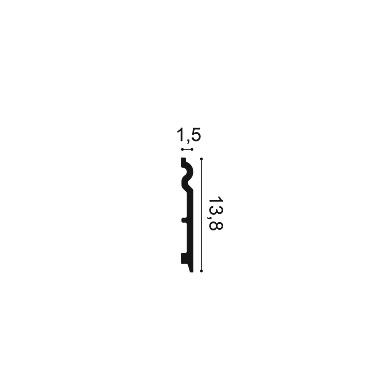 Плинтус из дюрополимера ORAC DECOR SX138