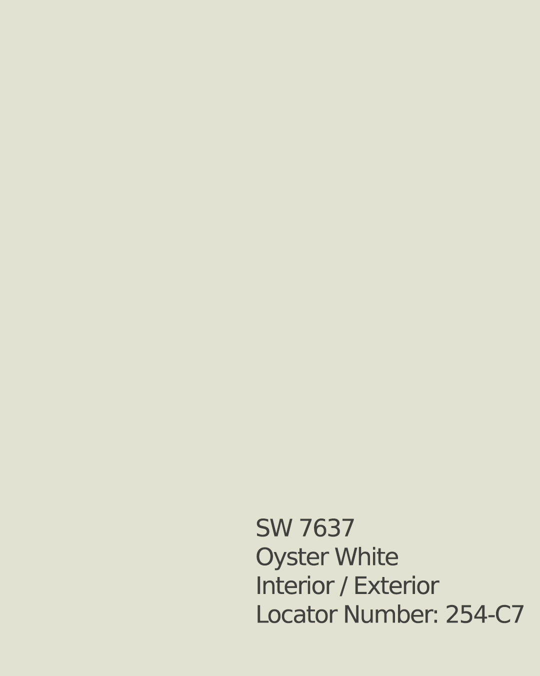 SW 7637 Oyster White