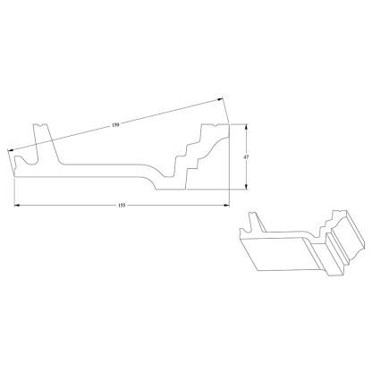 Карниз из полиуретана Orac Decor C305