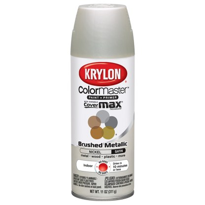 Krylon Colormaster Brushed Metallic Brushed Nickel 51255 аэрозольная краска-грунт