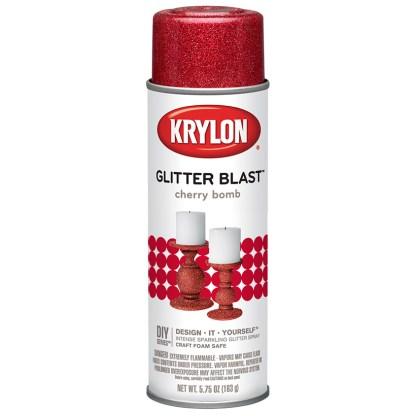Аэрозольная краска с блеском Krylon Glitter Blast Cherry Bomb 3806