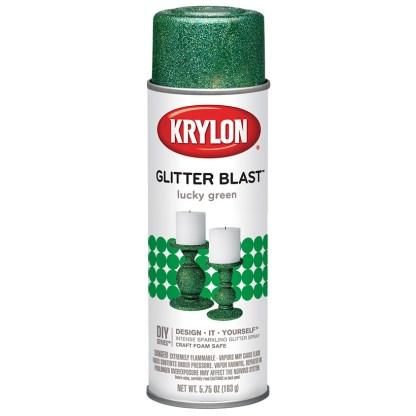 Аэрозольная краска с блеском Krylon Glitter Blast Lucky Green 3809