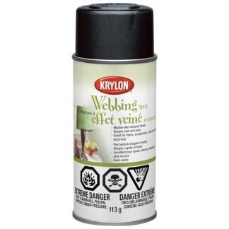 Krylon Webbing Spray Black Lava 40601