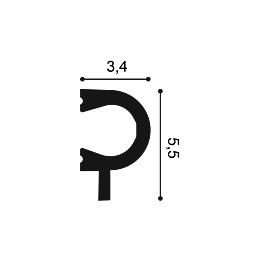 Молдинг из дюрополимера Orac Decor PX169