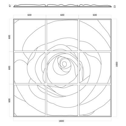 Artpole Rose гипсовые 3D панели