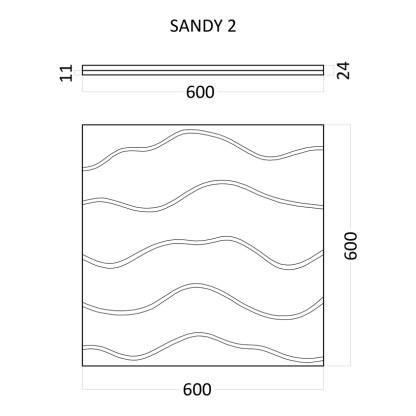 Artpole SANDY 2 гипсовые 3D панели