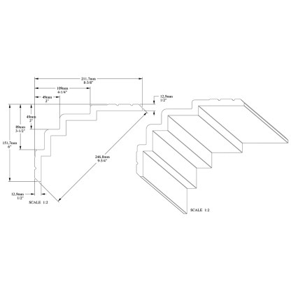 Карниз из полиуретана Orac Decor C393 STEPS