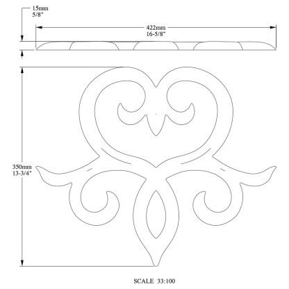 Декоративный элемент из полиуретана Orac Decor G71 SCALA