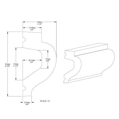 Молдинг из полиуретана Orac Decor P3020