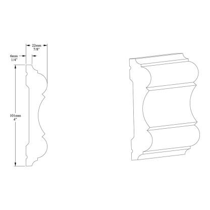 Молдинг из полиуретана Orac Decor P8040