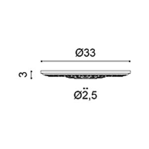 Потолочная розетка из полиуретана Orac Decor R14