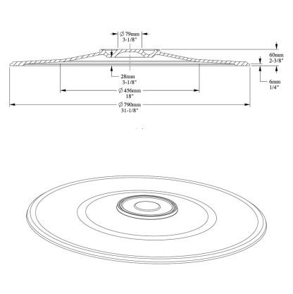 Потолочная розетка из полиуретана Orac Decor R24