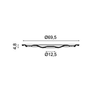 Потолочная розетка из полиуретана Orac Decor R52