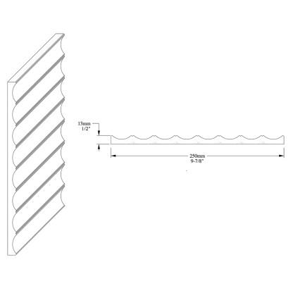 Декоративная панель из полиуретана Orac Decor W109 VALLEY