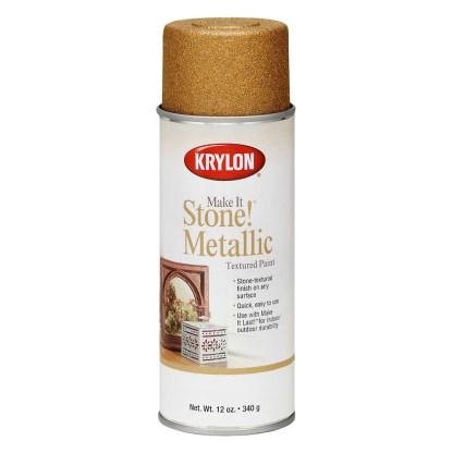 Krylon Make It Stone! Metalic Gold 8260