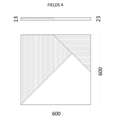 Гипсовые 3D панели Artpole Fields 4 D-0008-4