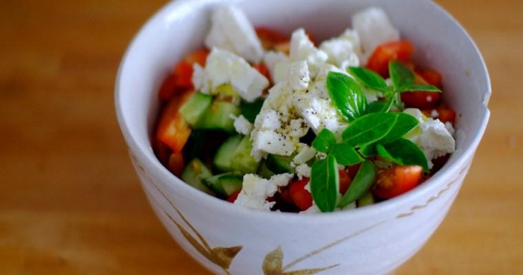Greek Salad: bog standard but good
