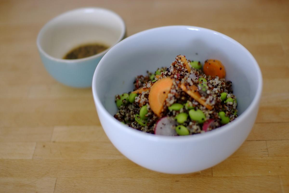 Super Quinoa Summer Salad with Mirin, Sesame and Nigella