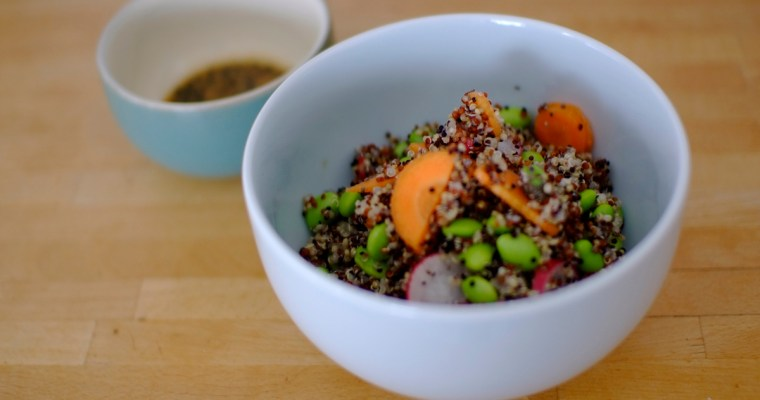 Super Quinoa Summer Salad with Mirin, Sesame and Nigella