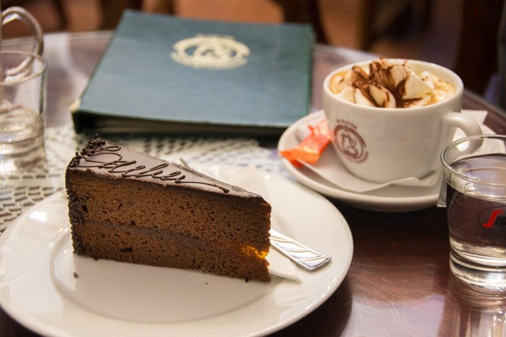 Sachertorte at Cafe Ruszwurm Budapest