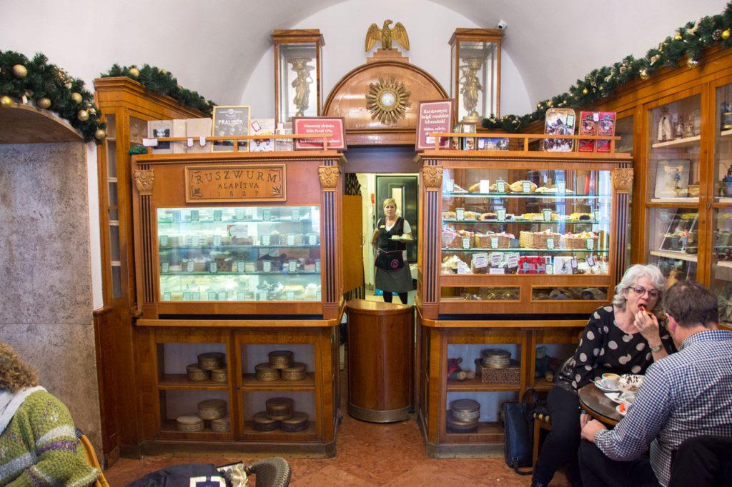 Cafe Ruszwurm Budapest Interior