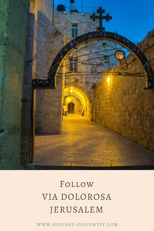 Via Dolorosa Jerusalem pin