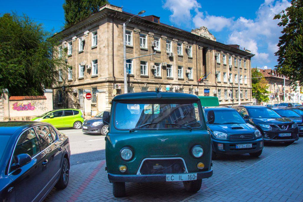Chisinau Moldova architecture with UAZ