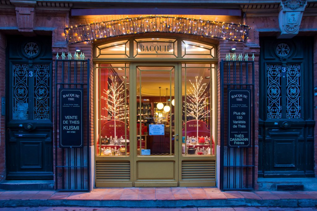 shop front in beautiful Toulouse