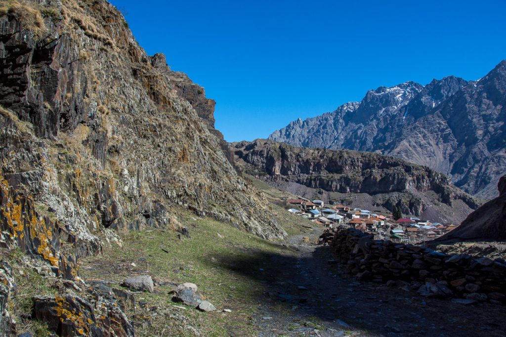 on the hike to Gergeti