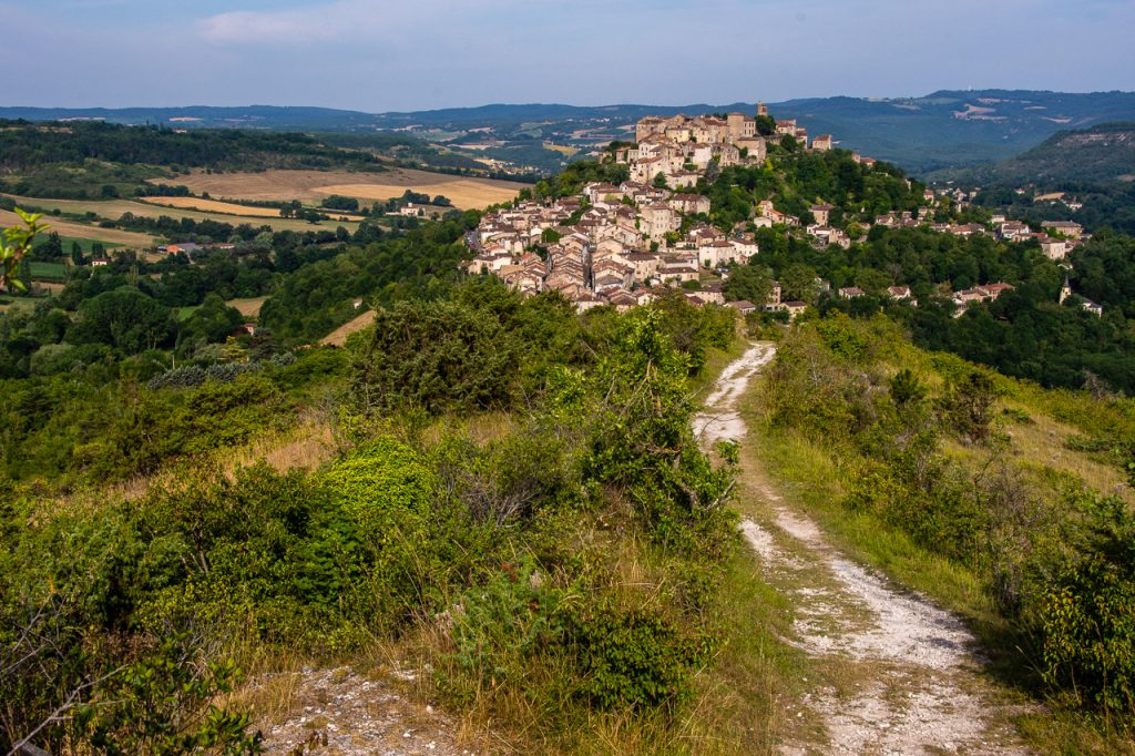 View of Cordes sur Ciel in Occitanie