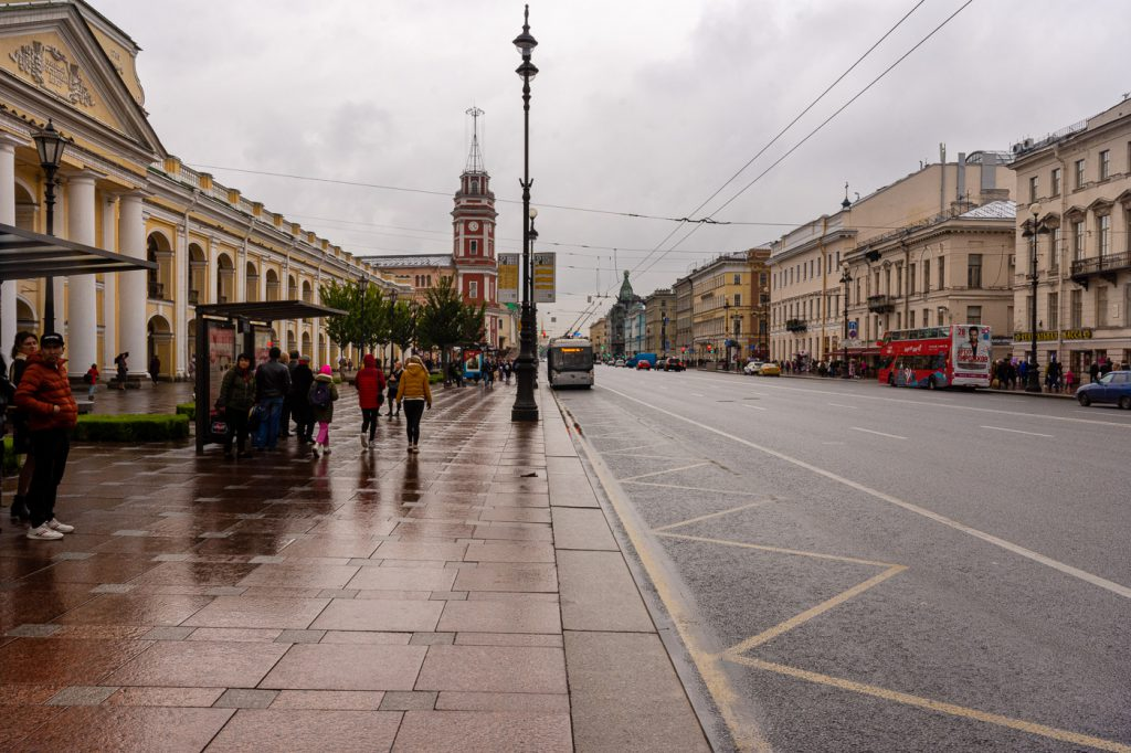 Nevsky Propect near the M-Hotel, Russia, St. Petersburg