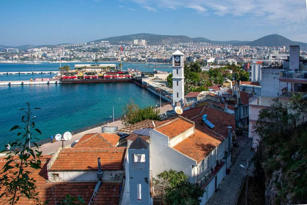 View of the port and city of Kusadasi