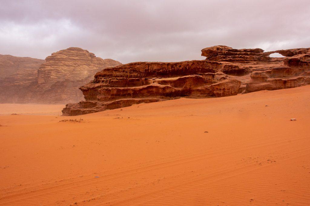 "Khor al Ajram Rock Bridge (""Small Arch"") in Wadi Rum"